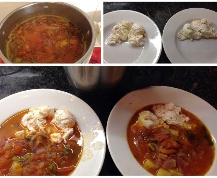 Receita Sopa de tomate com ovos escalfados por flammar - Categoria da receita Sopas