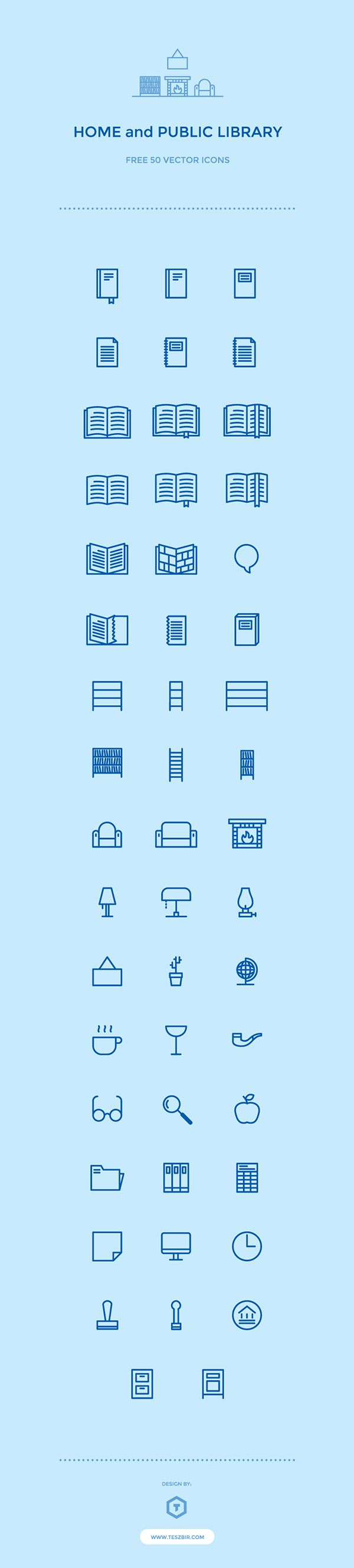 50 Free Library Icons on Behance