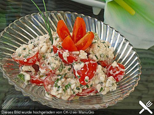 Hüttenkäse - Kirschtomatensalat