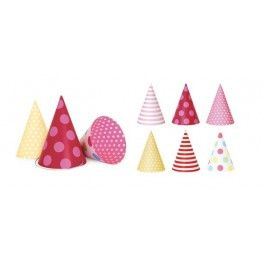 Party Hats - Pink {Also available in Blue} - 12 Pack