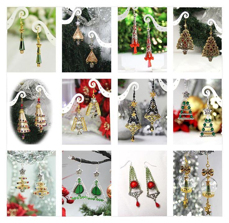 71 Best 12 Days Of Christmas Earrings Images On Pinterest  - Make Christmas Tree Earrings