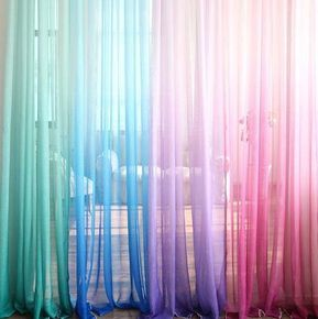 Ombre Gradient Sheer Panel