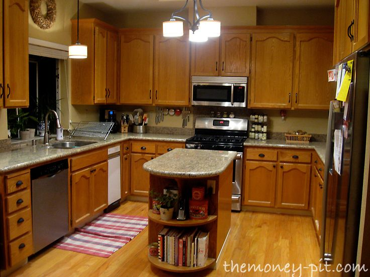 170 best images about kitchen on pinterest honey oak for Can i stain my kitchen cabinets darker