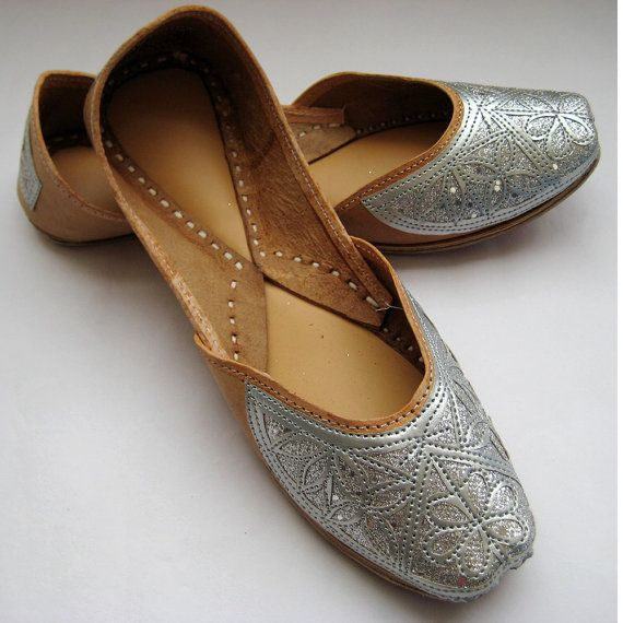 Silver Maharaja Bridal Jooties -- from FootSoles.