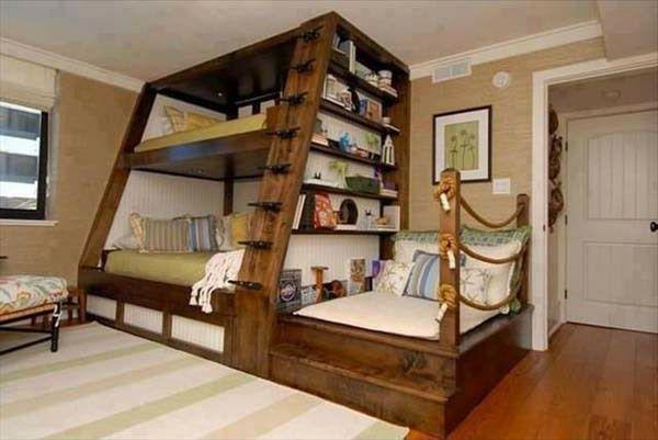 kreative möbel im kinderzimmer - hölzerne struktur - gemütlich erscheinen