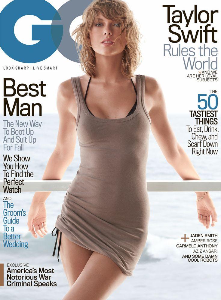 GQ, November 2015.. Taylor Swift.. James Perse long skinny tank..