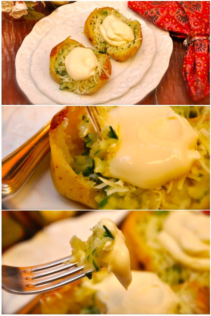 Baked Potato, batata inglesa assada, temperada e recheada. Pode ser servida como prato principal ou como acompanhamento. feita de maneira pratica no micro