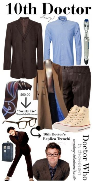 "I dressed up as the 10th doctor once and went to this Halloween type party and I saw this person dressed as the 9th doctor so I screamed ""I must not interfere with my own timeline"" and ran out of the room.<----- This."