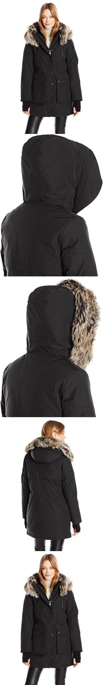 BCBGeneration Women's Parka, Black, L