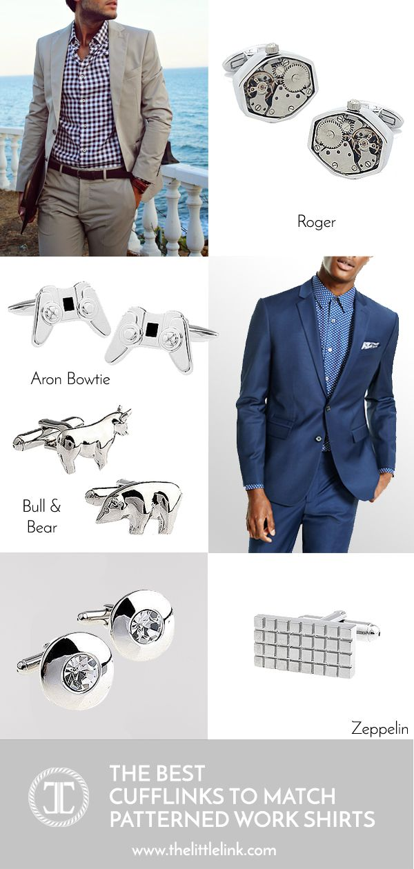 Cufflink Guide 101 Matching Cufflinks To The Colour Of Your Work Shirts Mens Fashion Work Mens Pants Fashion Men Fashion Casual Outfits