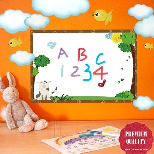 Small Whiteboard For Kids To Write & Draw Wall Decal
