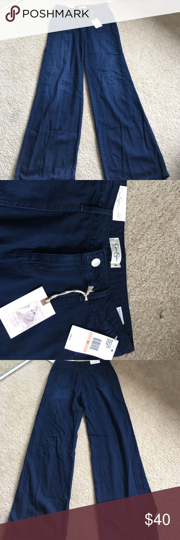 Jessica Simpson Jeans⬇️⬇️FINAL MARKDOWN⬇️⬇️ Brand new. I haven't been able to fit into these. So they have to go. Super dark blue and wide Leg. Size is 26 and they sit high on the waist. Very flattering. Jessica Simpson Jeans Flare & Wide Leg