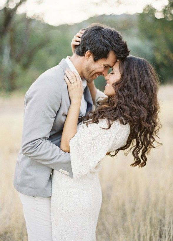 Have him whisper sweet little nothings in your ear, or simply look at each other and laugh. Engagement Photos, Couple Photo Ideas, Photo Poses