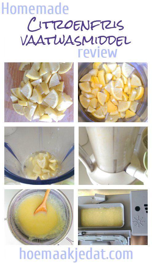 Citroenfris vaatwasmiddel recept