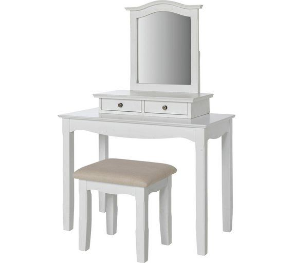 Buy Provence Dressing Table With Mirror And Stool   White At Argos.co.uk