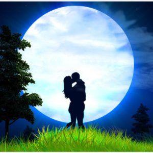 Loving Couple Moon Light Hd Wallpaper Loving Couple Moon Light Hd