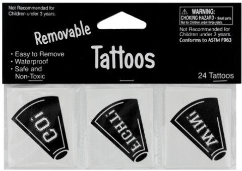 removable black cheer tattoos Case of 24