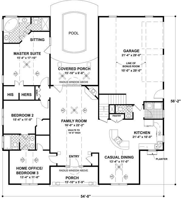 15 best house plans images on Pinterest Courtyard house plans