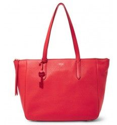 Sac Fossil Rouge Tomate SYDNEY Cabas Cuir