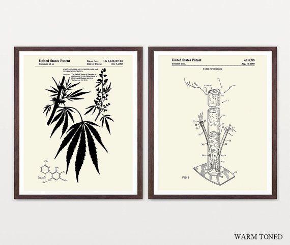 Cannabis Patent Art Marijuana Art by WunderKammerEditions