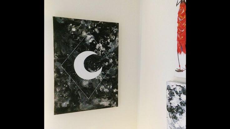 DIY: Hur du enkelt målar en bohemiskt tavla med salt, socker, bläck och akrylfärg!