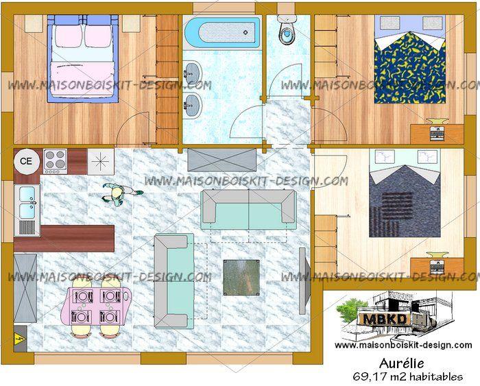 Selection De Plan De Maison Avec 3 Chambres 2