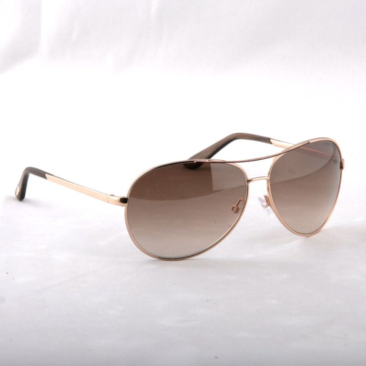 TOM FORD -Charles FT035 772 Aviator GOLDEN AND MAROON Sunglasses