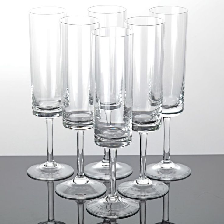 6 Sektgläser schlicht klar Zylinder Kuppa Vintage Sektglas ~ 60er Jahre Gläser i