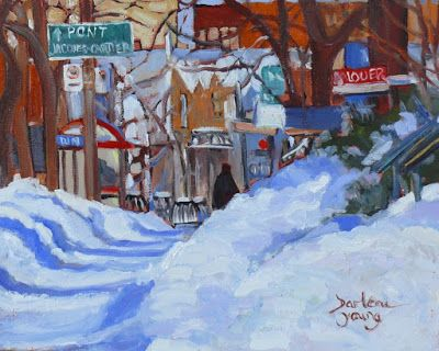 Darlene Young a Painting a Day: 1006 Pont Jacques-Cartier, 8x10, oil on board