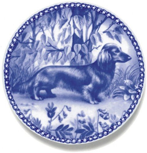 Dachshund Miniature-Longhaired / - Lekven Design Dog Plate 19.5 cm /7.61 inches Made in Denmark NEW with certificate of origin PLATE -7121 * Click image to review more details. (This is an affiliate link and I receive a commission for the sales)