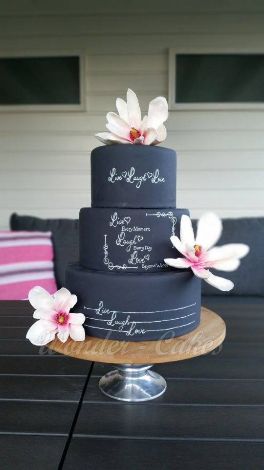 Chalkboard Cake Live, Laugh and Love