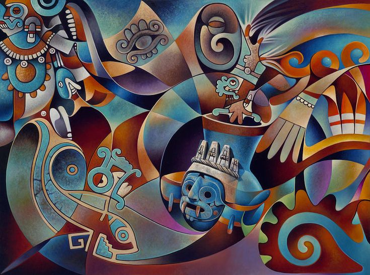 Tapestry Of Gods-tlaloc Painting - Tapestry Of Gods-tlaloc ...
