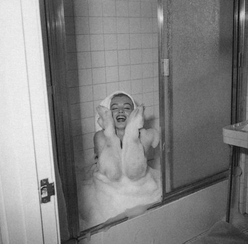 Marilyn in the bath.