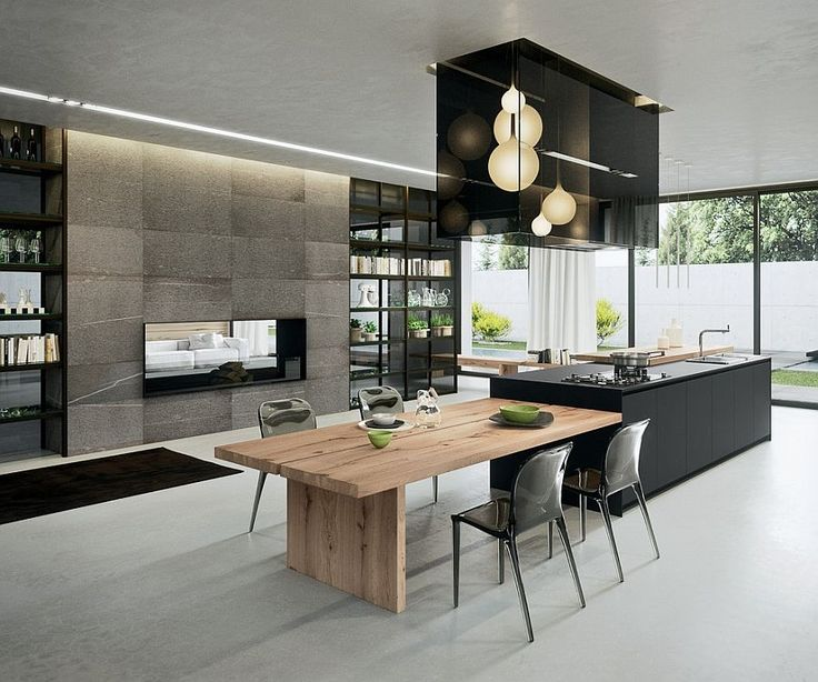 Best 25 modern kitchens ideas on pinterest for Modern large kitchen design