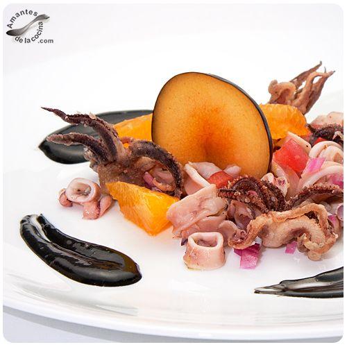 Fabulosa ensalada de calamares con mayonesa negra / amantesdelacocina