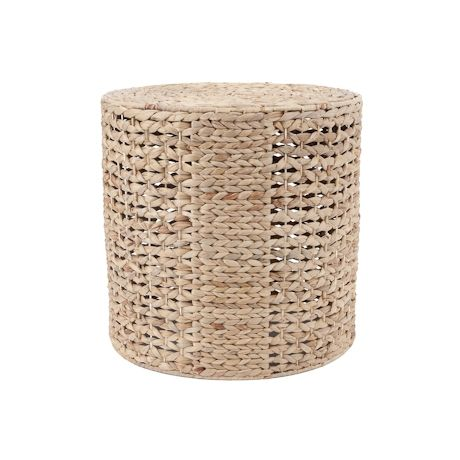 Buco Ottoman Open Weave Cylinder - Mmmm those natural textures ... just gorgeous ... esp. in the white room I'm building up in my mind!