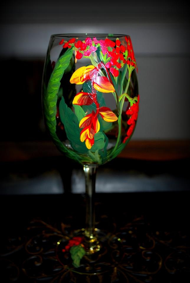 20 best hand painted wine glasses images on pinterest for Hand painted drinking glasses