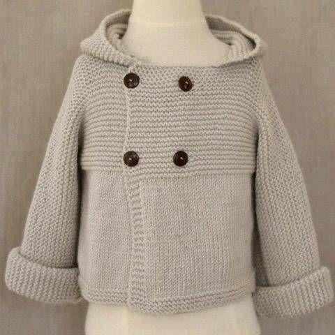 Paletot bébé Jonas 3-24m - modèle à tricoter chez Makerist