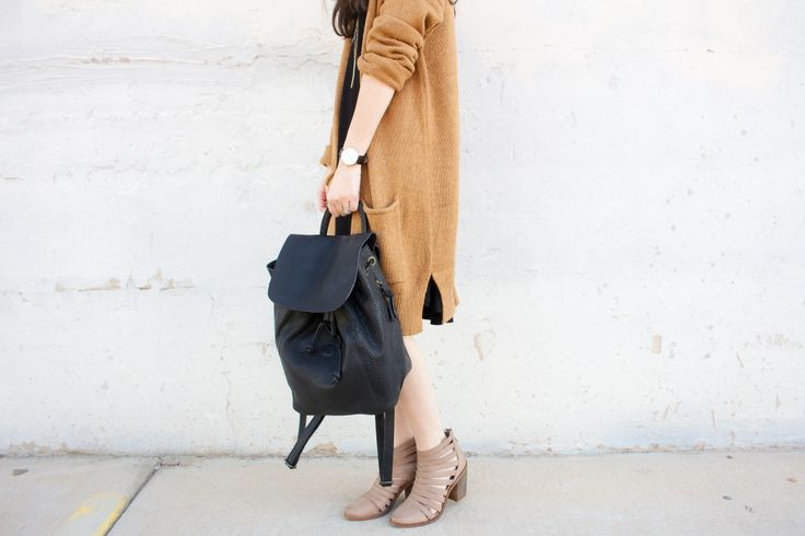 New Darlings - Urban Outfitters - Fall Sweater - Leather back pack - Nordstrom Heels