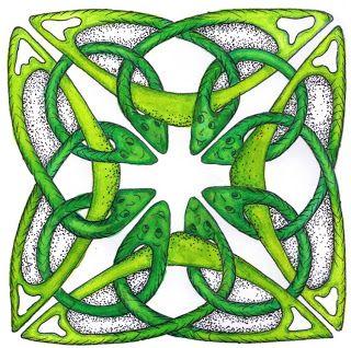 Keltische knoop tekenen