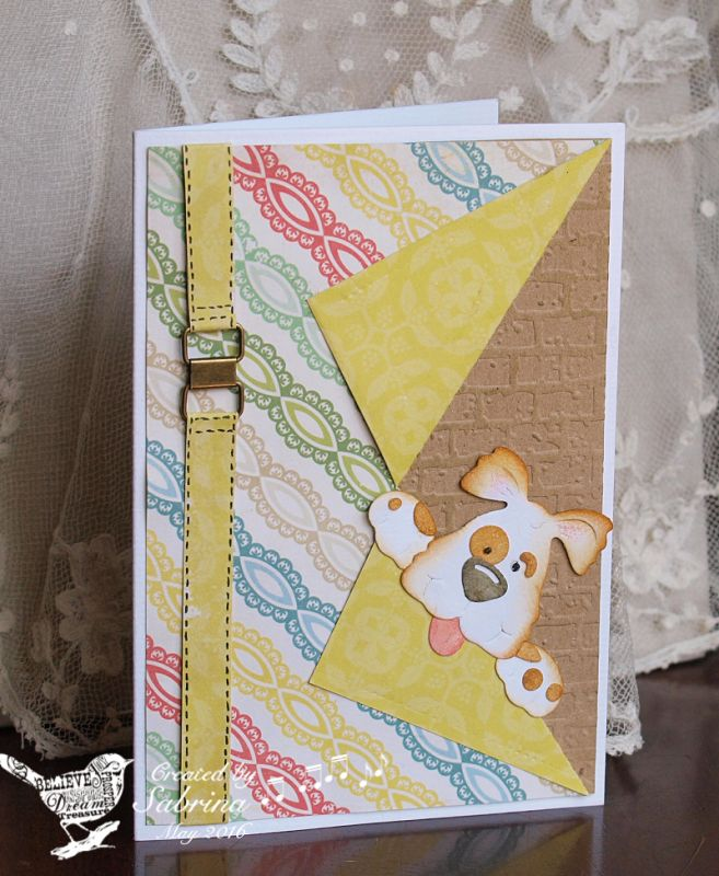 TLC587 Peeker Dog by Cook22 - Cards and Paper Crafts at Splitcoaststampers