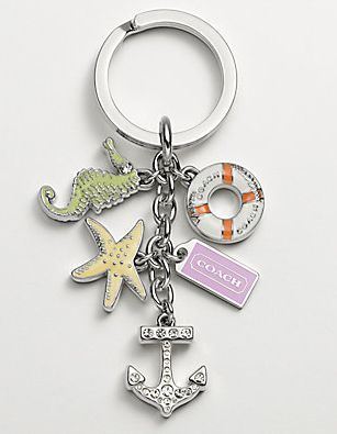 Coach Beach Charms...have to look for these at Coach store in Niagara Falls