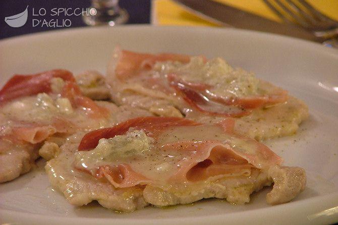 Scaloppine speck e gorgonzola