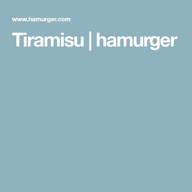 Tiramisu   hamurger