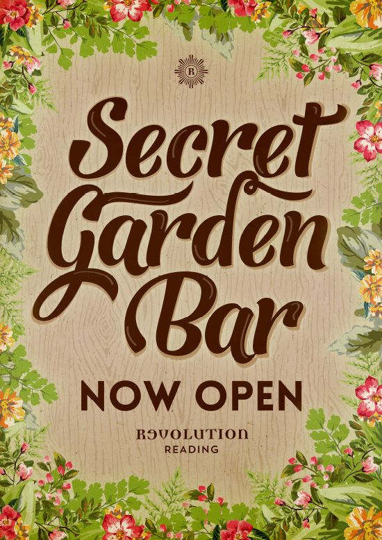 secret garden poster floral designs bar graphics by wwwdiagramdesignco