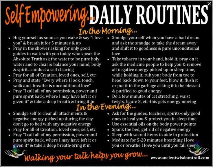 Daily routine self improvement