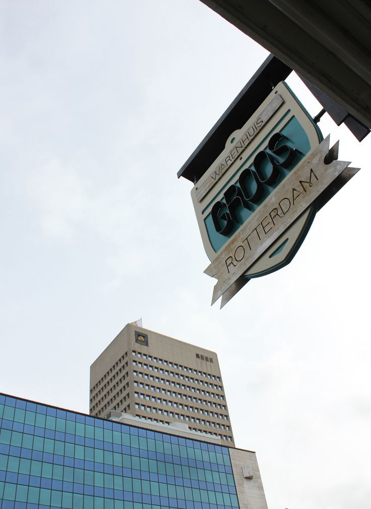 "Sign for the store of ""Groos""Rotterdam by Ernst Kühne meubelmaker and Romy Kühne Design"
