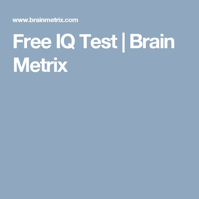 Free IQ Test | Brain Metrix