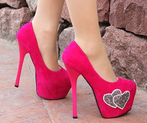 Women's Pumps With Rhinestone and High Heel Design #ShopSImple