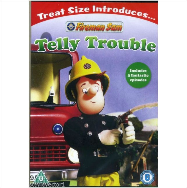 FIREMAN SAM TELLY TROUBLE DVD INCLUDES 3 FANTASTIC EPISODES BRAND NEW SEALED £2.99+FREE POSTAGE